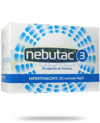 Nebutac 3 hipertoniczny 3% roztwór NaCl do inhalacji 30x 4 ml