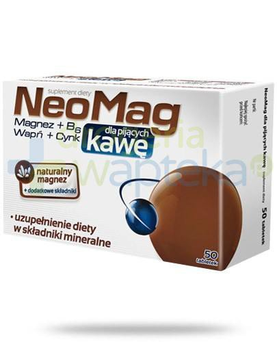 NeoMag dla pijących kawę 50 tabletek