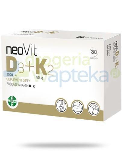 NeoVit D3 + K2 30 kapsułek   whited-out