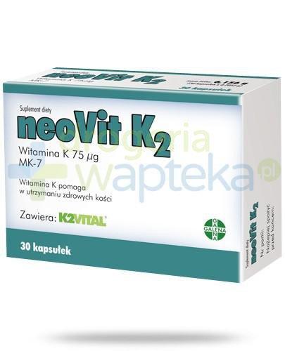 NeoVit K2 75µg MK-7 30 kapsułek   whited-out