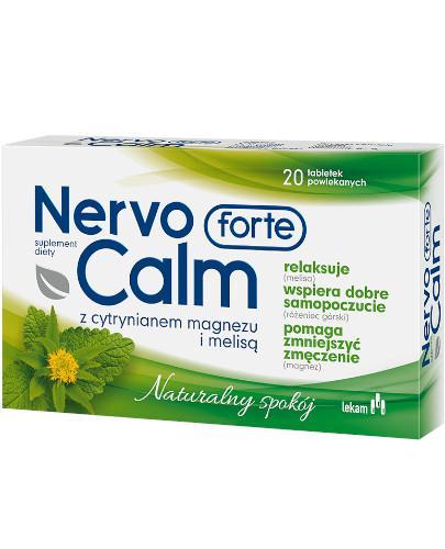 NervoCalm Forte z cytrynianem magnezu 20 tabletek powlekanych