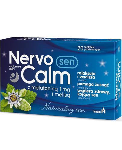 NervoCalm Sen z melatoniną 1mg i melisą 20 tabletek powlekanych