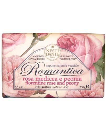 Nesti Dante Romantica naturalne mydło toaletowe róża i peonia 250 g
