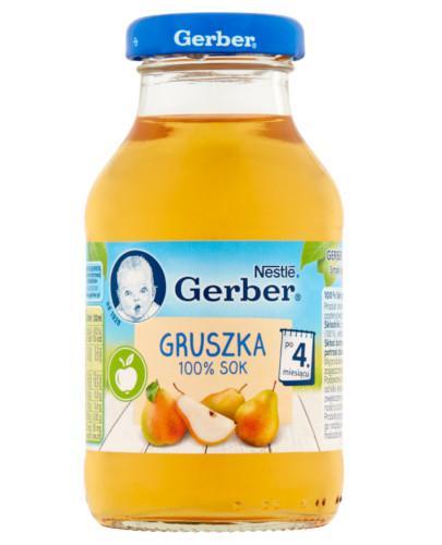 Nestlé Gerber 100% sok gruszka po 4 miesiącu 200 ml