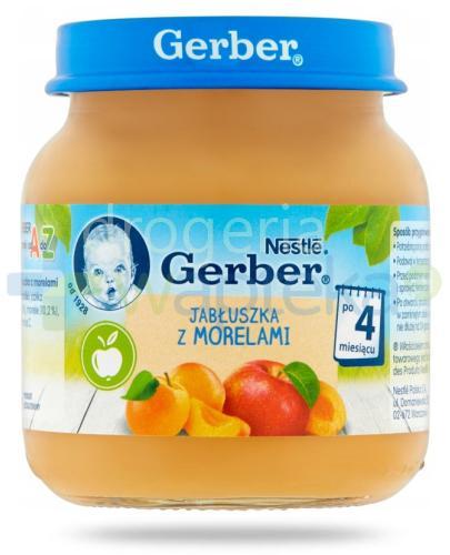 Nestlé Gerber Deserek Jabłuszka z morelami po 4 miesiącu 125 g
