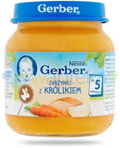 Nestlé Gerber Jarzynki z królikiem po 5 miesiącu 125 g