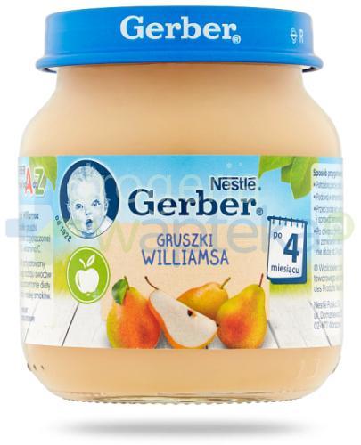 Nestlé Gerber Gruszki Williamsa po 4 miesiącu 125 g