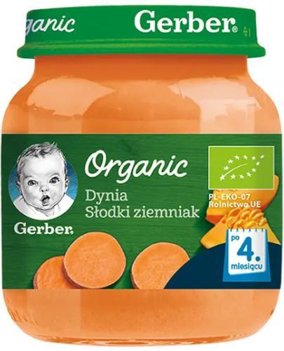 Nestlé Gerber Organic Dynia słodki ziemniak po 4 miesiącu 125g