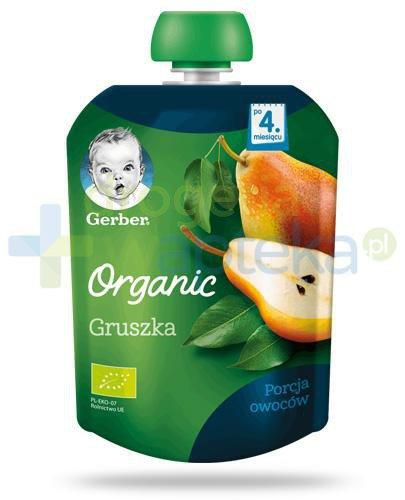 Nestlé Gerber Organic Gruszka deserek owocowy dla dzieci 4m+ 90 g [KUP 4 sztuki produkt...
