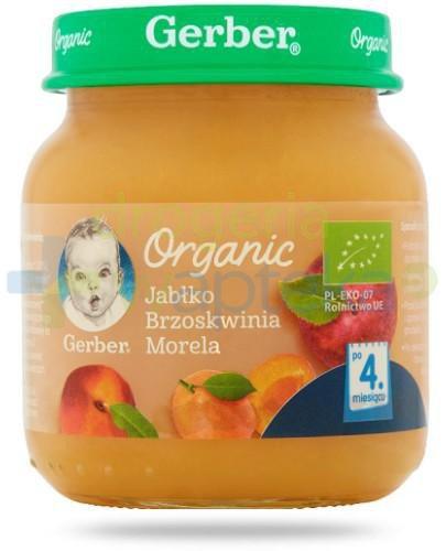 Nestlé Gerber Organic Jabłko brzoskwinia morela po 4 miesiącu 125 g