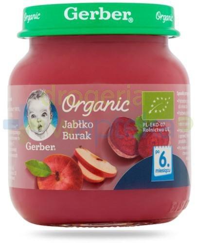 Nestlé Gerber Organic Jabłko burak po 6 miesiącu 125 g