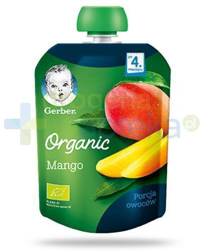 Nestlé Gerber Organic Mango deserek owocowy dla dzieci 4m+ 90 g [KUP 4 sztuki produkt...