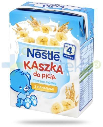 Kaszka Nestlé do picia mleczno-ryżowa z bananami po 4 miesiącu 200 ml