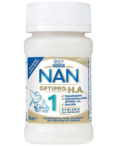NESTLE NAN OPTIPRO HA 1 Hypoalergiczne mleko początkowe w płynie dla niemowląt od urodz...