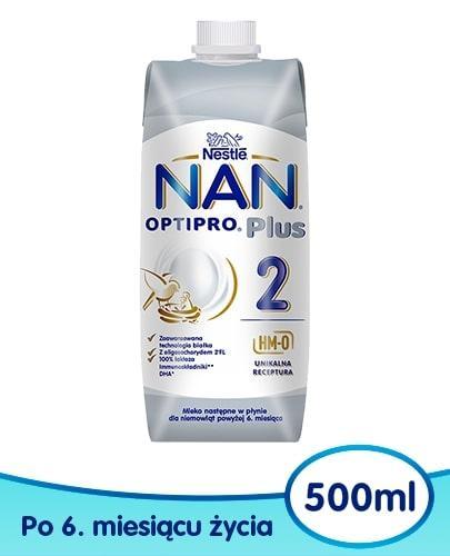 NESTLE NAN OPTIPRO Plus 2 mleko następne w płynie dla niemowląt powyżej 6 miesiąc...