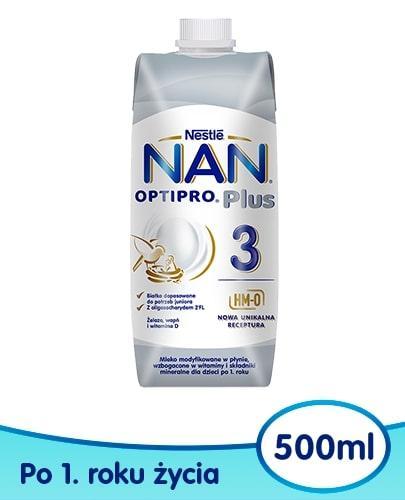 NESTLE NAN OPTIPRO Plus 3 mleko modyfikowane w płynie dla dzieci po 1 roku 500 ml