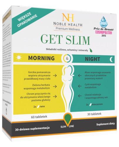 Noble Health Get Slim Morning & Night 90 tabletek + Detox Max 21 kapsułek [GRATIS]