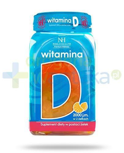 Noble Health witamina D w żelkach dla dzieci i dorosłych 180 g