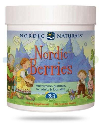 Nordic Naturals Nordic Berries żelki multiwitaminowe dla dzieci i dorosłych 120 sztuk [DARMOWA DOSTAWA]