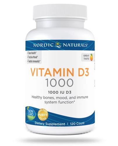 Nordic Naturals Vitamin D3 1000j.m. smak pomarańczowy 120 kapsułek [DARMOWA DOSTAWA]