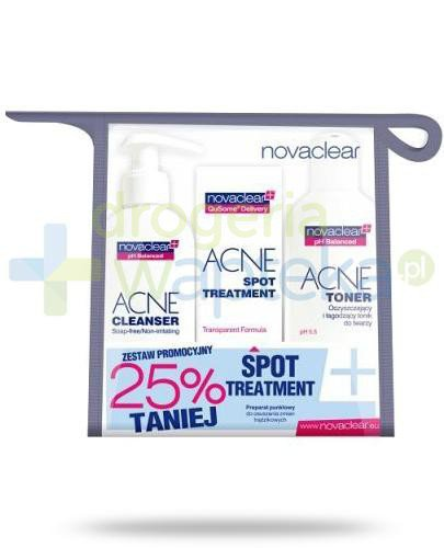 NovaClear Acne Cleanser 150 ml + Spot 10 ml + Toner 200 ml [ZESTAW]