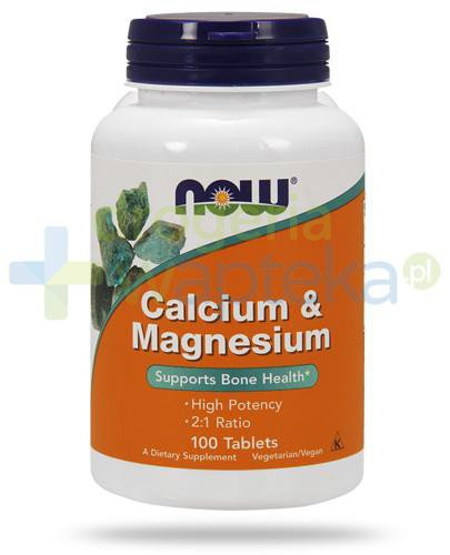 NOW Foods Calcium & Magnesium 100 tabletek