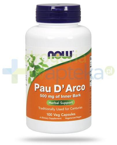 NOW Foods Pau D'Arco 500mg 100 kapsułek vege