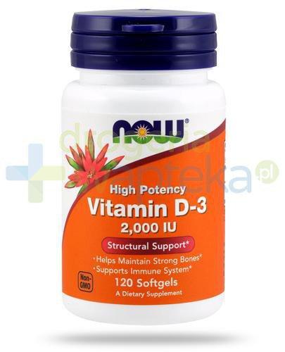 NOW Foods Vitamin D3 2000IU 120 kapsułek miękkich