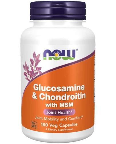 NOW Foods Glucosamine & Chondroitin MSM 180 kapsułek