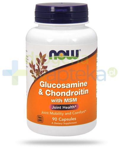 NOW Foods Glucosamine & Chondroitin MSM 90 kapsułek