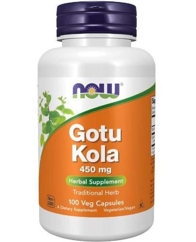 NOW Foods Gotu Kola 450mg 100 kapsułek vege