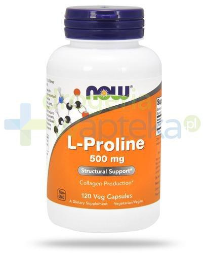 NOW Foods L-Proline 500mg 120 kapsułek vege