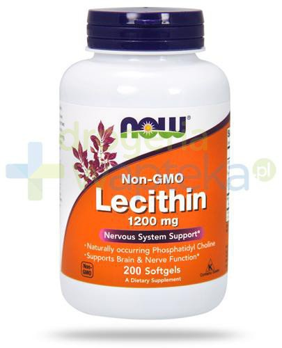 NOW Foods Lecithin 1200mg 200 kapsułek