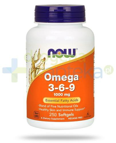 NOW Foods Omega 3-6-9 1000mg 250 kapsułek