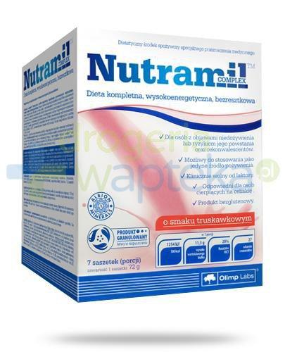 Nutramil Complex preparat odżywczy o smaku truskawkowym 7 saszetek [Data ważnośc...