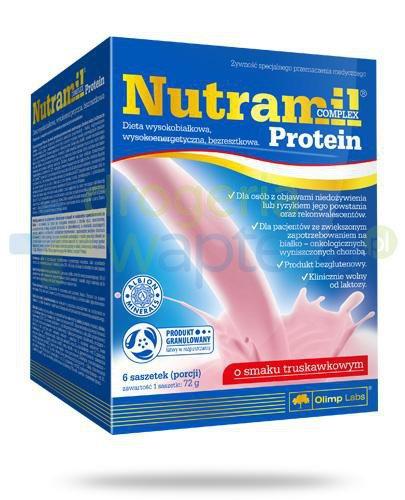 Nutramil Complex Protein preparat odżywczy o smaku truskawkowym 6 saszetek