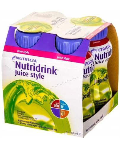 Nutridrink Juice Style o smaku jabłkowym 4x 200 ml