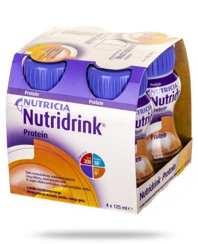 Nutridrink Protein smak brzoskwinia-mango 4x 125 ml
