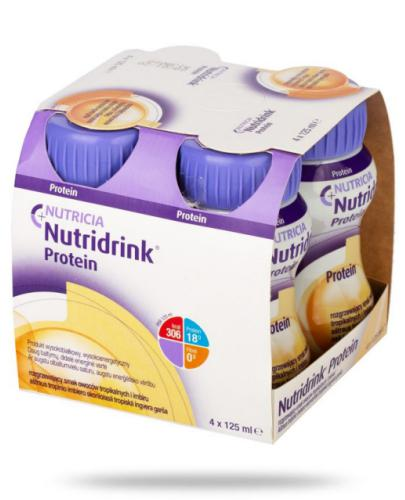 Nutridrink Protein smak owoców tropikalnych i imbiru 4x 125 ml