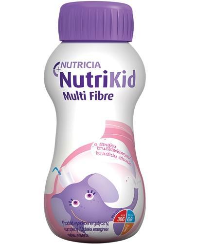 NutriKid Multi Fibre o smaku truskawkowym płyn 200 ml