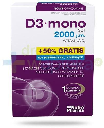 NutroPharma D3 Mono witamina D 2000j.m. 90 kapsułek