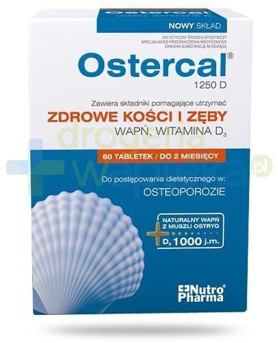 NutroPharma Ostercal 1250 D zdrowe kości i zęby 60 tabletek