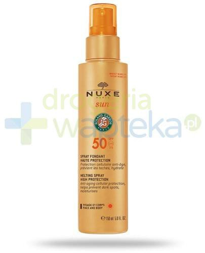 Nuxe Sun mleczko SPF50 do opalania twarzy i ciała w sprayu 150 ml  whited-out