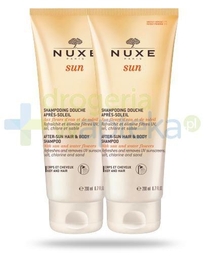 Nuxe Sun pielęgnacyjny żel pod prysznic po opalaniu 2x 200ml [DWUPAK]