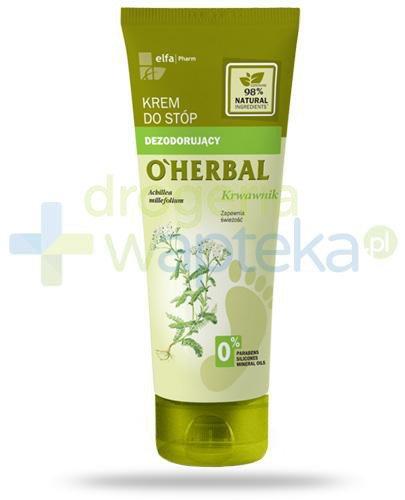 O'Herbal dezodorujący krem do stóp z ekstraktem z krwawnika 75 ml Elfa Pharm
