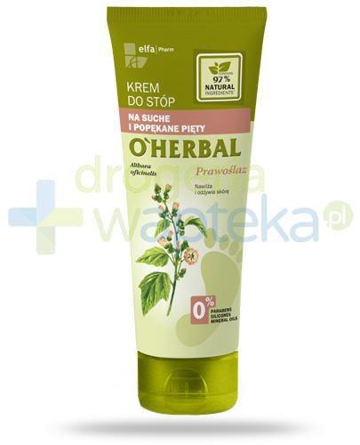 O'Herbal krem do stóp na suche i popękane pięty z ekstraktem z prawoślazu 75 ml Elfa Pharm