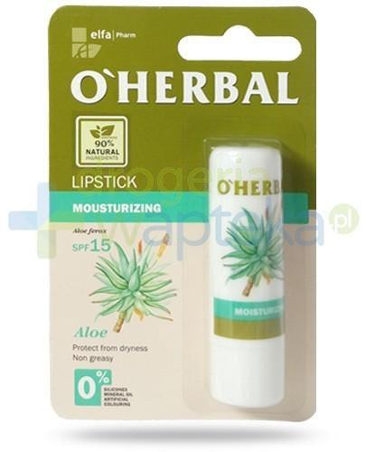 O'Herbal nawilżająca bezbarwna pomadka do ust SPF15 z ekstraktem z aloesu 4,8 g Elfa Pharm