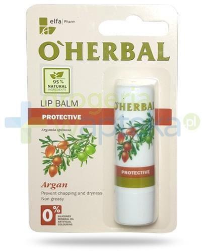 O'Herbal ochronny nietłusty balsam do ust z olejkiem arganowym 4,8 g Elfa Pharm