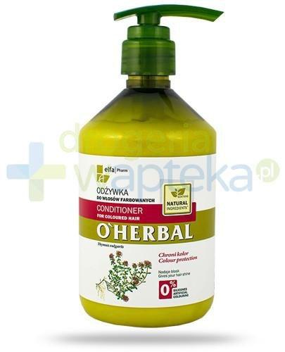 O'Herbal Odżywka do włosów farbowanych z ekstraktem z macierzanki tymianku 500 ml Elfa Pharm