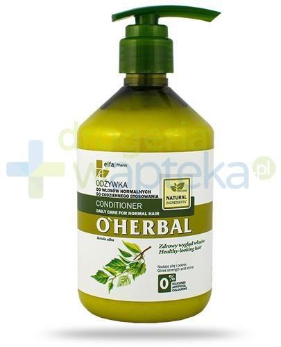 O'Herbal Odżywka do włosów normalnych do codziennego stosowania z ekstraktem z brzozy 500 ml Elfa Pharm